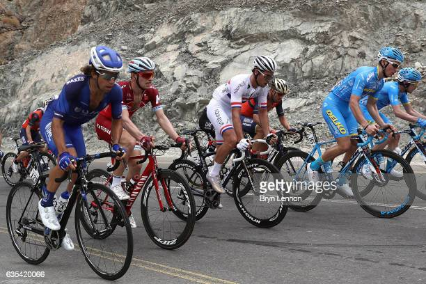 British Road Race Champion Adam Blythe of Aqua Blue Sport rides up the Climb of Fanja on stage two of the 8th Tour of Oman a 1455km road stage from...