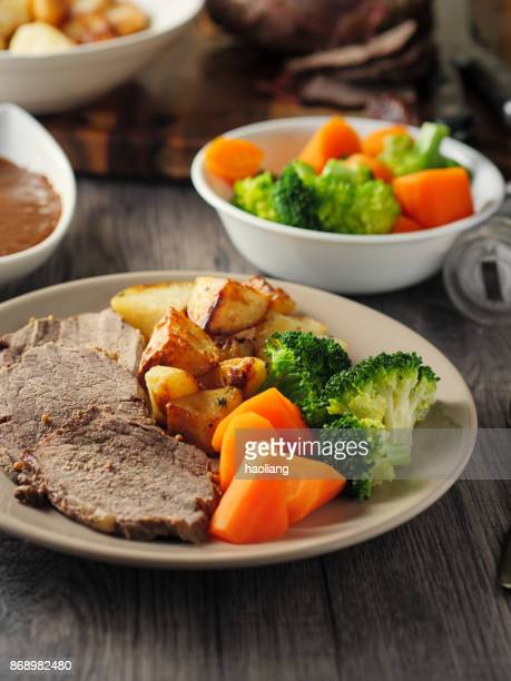 British Roasted beef dinner