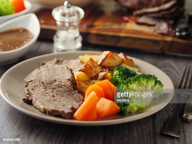 British Roasted beef dinner