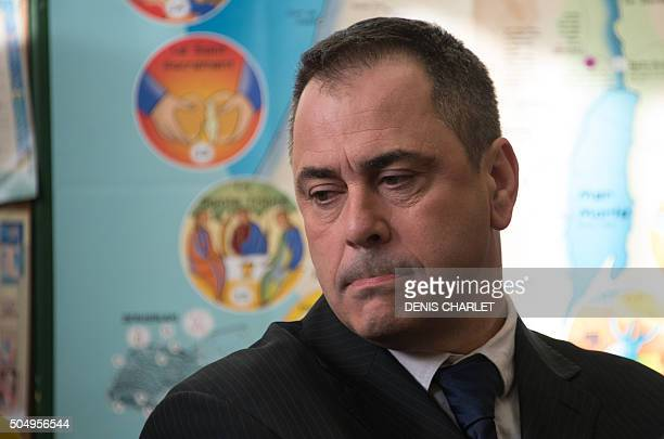 British Robert Lawrie is pictured on January 14, 2016 in Boulogne-sur-Mer prior to the start of his trial for trying to bring a four-year-old Afghan...