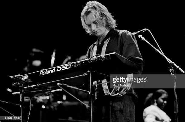 British Rock and Pop musician Sting performs onstage at the Sun Dome, Tampa, Florida. January 21, 1988.