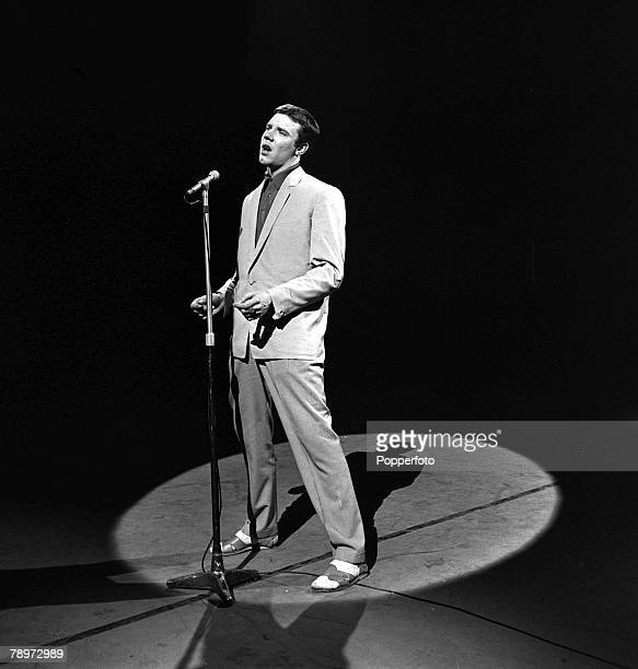 1959 British rock and roll performer Marty Wilde pictured in action