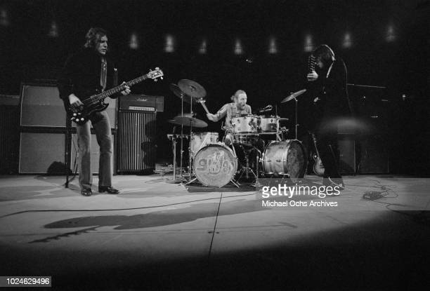 British rock band Cream in concert in Madison Square Garden New York City 2nd November 1968 From left to right they are lead singer Jack Bruce...