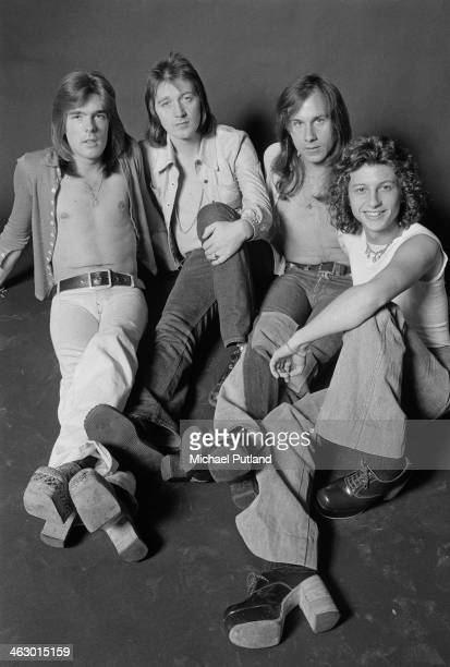 British rock band Home 8th July 1973 Left to right bassist Cliff Williams singer Mick Stubbs drummer Mick Cook and guitarist Laurie Wisefield...