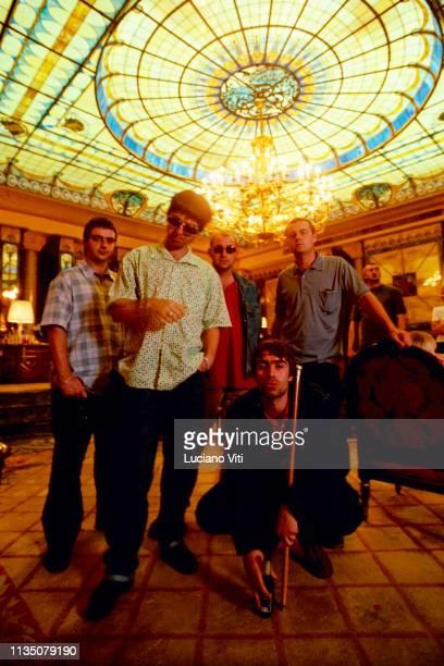 British rock band Oasis , Milan, Italy, 1997.