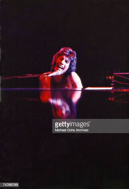 British rock band Queen perform in concert at the Forum on December 22 1977 in Inglewood California