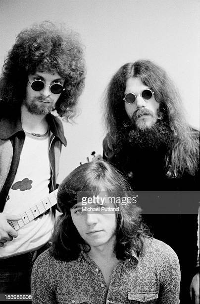 British rock band The Move appear on Top of the Pops London 13th October 1971 From left to right they are Jeff Lynne Bev Bevan and Roy Wood