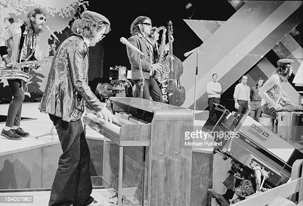 British rock band The Move featuring Roy Wood perform on the television music show 'Top of the Pops' 24th May 1972