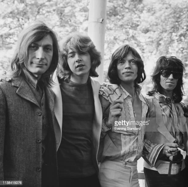 British rock band The Rolling Stones in Hyde Park London UK 13th June 1969 Charlie Watts Mick Taylor Mick Jagger Keith Richards