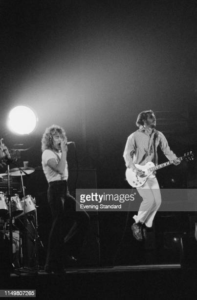 British rock band The Who performing live during the concert tour supporting 'The Who By Numbers' at Wembley Arena, London, UK, 24th October 1975.