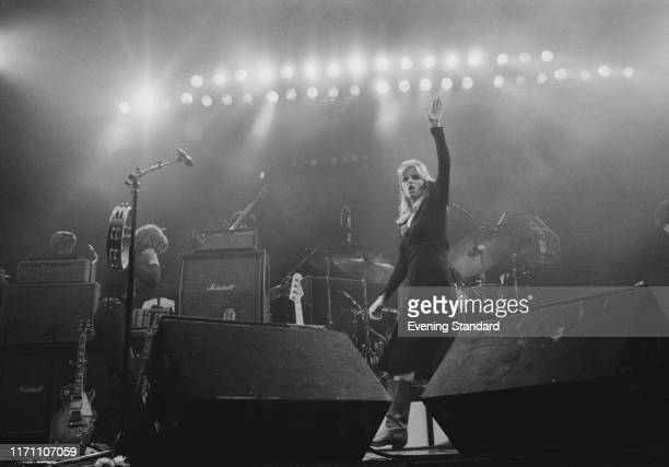 British rock band Wings on stage at the Hammersmith Odeon during their 'Wings Over the World tour' London UK 18th October 1976