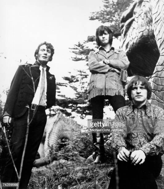 British Rock Group Cream poses for a portrait in 1968 LR Ginger Baker Jack Bruce Eric Clapton