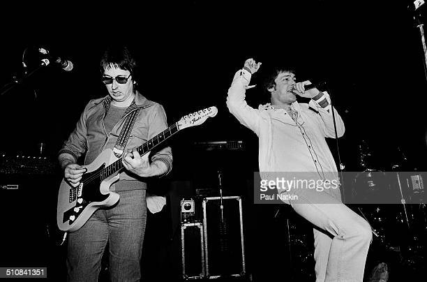 British rock group Eddie and the Hot Rods perform onstage at Tuts nightclub Chicago Illinois January 17 1981 Pictured are Dave Higgs and Barrie...