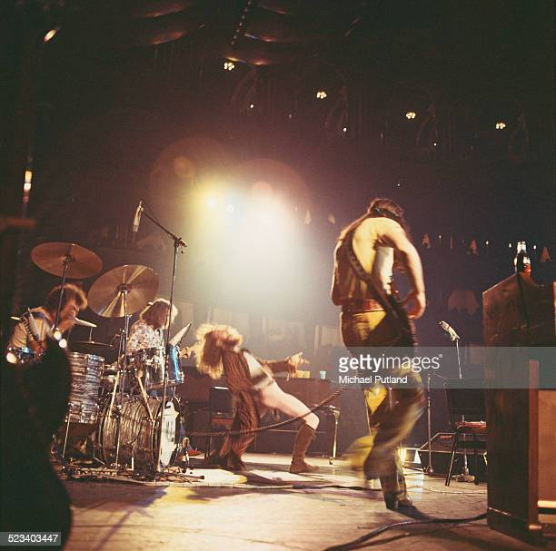 British rock group Jethro Tull performing at the Royal Albert Hall London 13th October 1970 Left to right Clive Bunker Martin Barre Ian Anderson and...