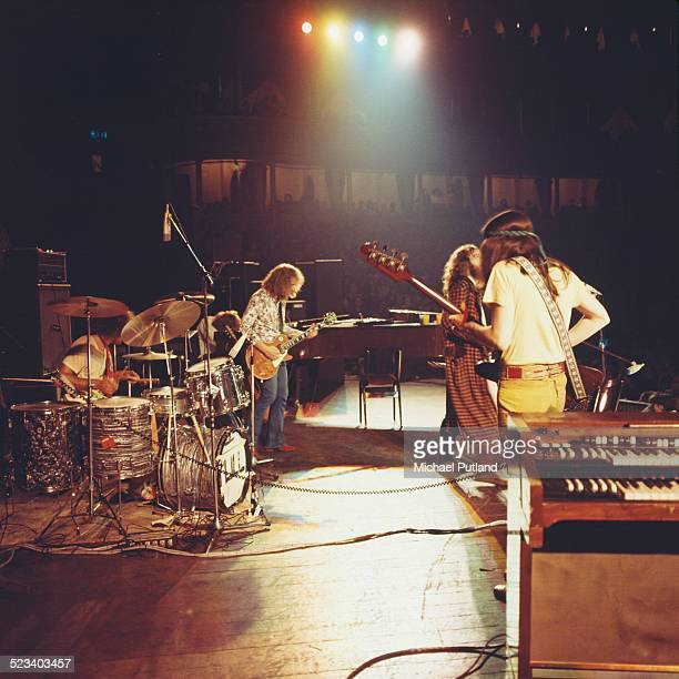 British rock group Jethro Tull performing at the Royal Albert Hall London 13th October 1970 Left to right Clive Bunker John Evan Martin Barre Ian...