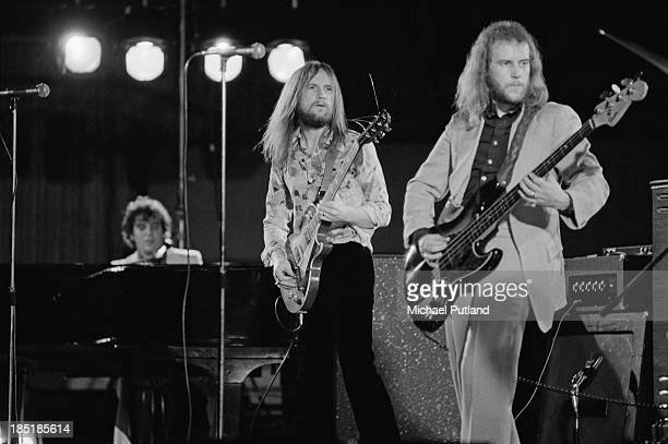British rock group Procol Harum performing at the Royal Festival Hall London 12th November 1973 Left to right Gary Brooker Mick Grabham and Alan...