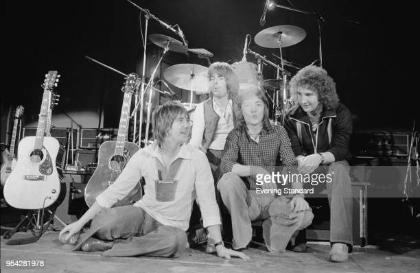 British rock group Smokie UK 28th October 1977 They are Chris Norman Alan Silson Terry Uttley Pete Spencer