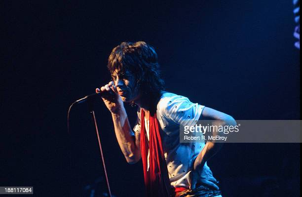 British rock group the Rolling Stones perform onstage at Madison Square Garden as part of their STP Tour New York New York July 26 1972 Pictured is...