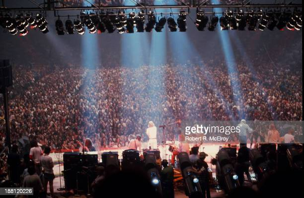 British rock group the Rolling Stones perform onstage at Madison Square Garden as part of their STP Tour New York New York July 26 1972 Among those...