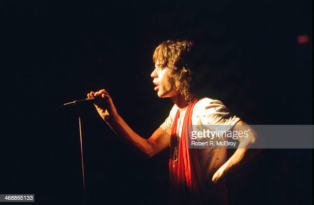 British rock group the Rolling Stones perform onstage at Madison Square Garden as part of their STP Tour New York New York July 26 New York New York...