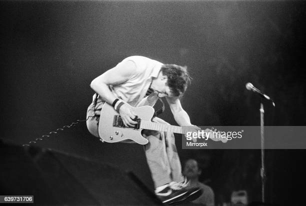 British rock group The Who in Toronto Canada Guitarist Pete Townshend performing on stage at Maple Leaf Gardens the final venue on the band's...