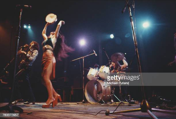 British rock group Vinegar Joe performing live on stage at the Roundhouse Camden London 4th May 1972 Left to right Robert Palmer Elkie Brooks and...