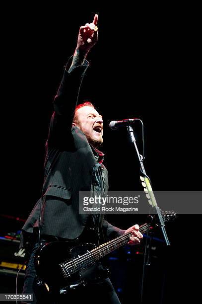 British rock guitarist and singer-songwriter Ginger Wildheart performing live onstage at the O2 Academy Brixton with his band Ginger Wildheart,...