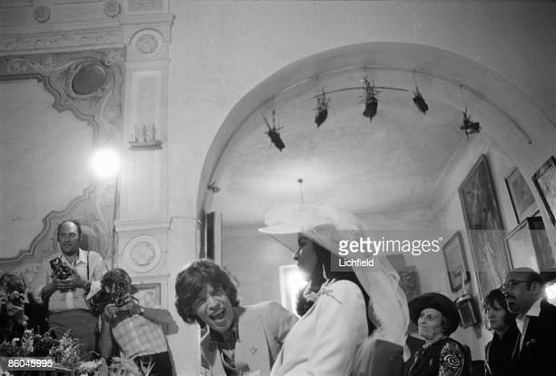 British rock musician Mick Jagger and Nicaraguan model actress and human rights advocate Bianca Perez Morena de Marcias during their Wedding in the...