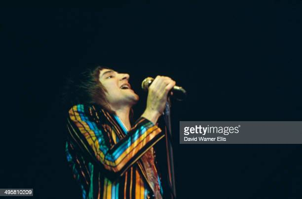 British rock singer and songwriter Rod Stewart performs with the Faces at the Popgala 1973 concert in Voorburg Netherlands 10th March 1973