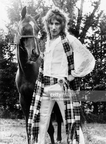 British rock singer Rod Stewart with his horse Mia Rod Stewart was born in London in 1945 but has always associated himself with Scotland and...
