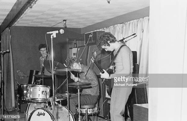 British rock supergroup Cream performing at the Starlite Ballroom Greenford London 19th February 1967 Left to right Jack Bruce Ginger Baker and Eric...
