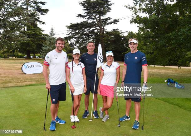 British Rowing athletes Will Fletcher Alan Sinclair and Tom George and Ladies European Tour athletes Amy Boulden and Annabel Dimmock appearing on...