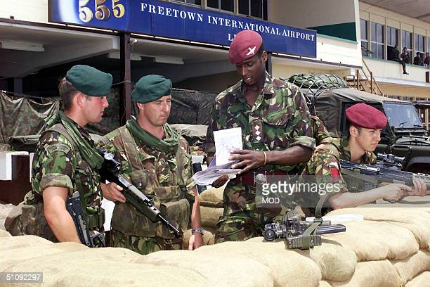 British Royal Marine Commandos From The Amphibious Ready Group Are Briefed May 24 2000 After Arriving In Freetown Sierra Leone Recently Two Western...