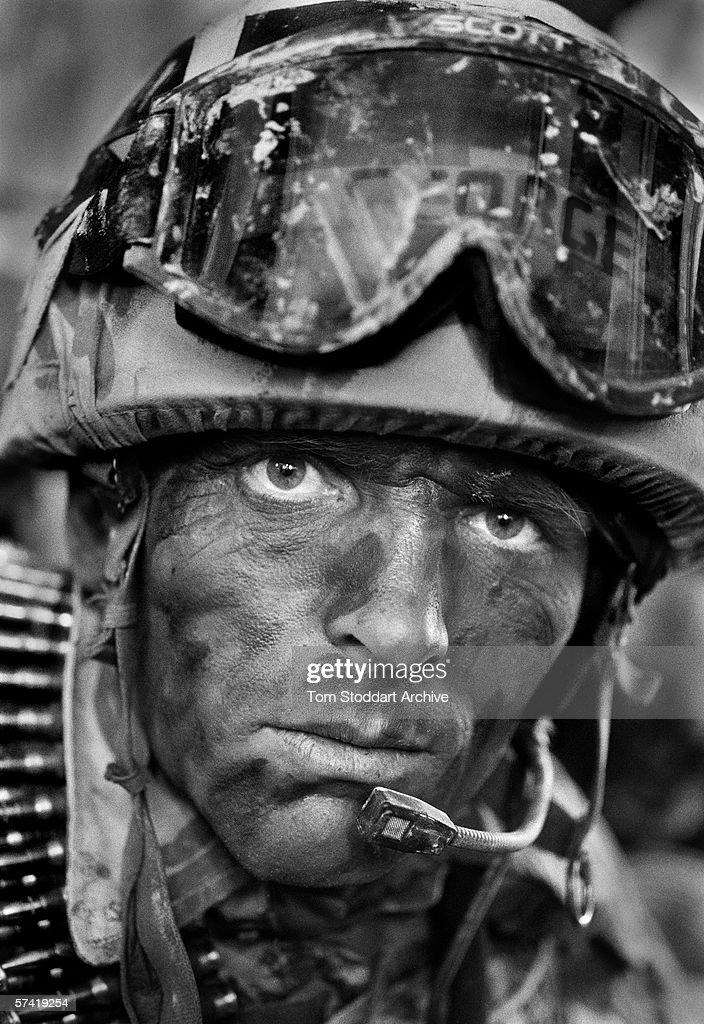 British Royal Marine George Summers from 539 Assault Squadron, has just learned that his comrade from the unit has been killed during action in the marshes of southern Iraq in 2003.