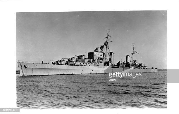 British Royal Navy Battleship HMS Dido at sea date not given