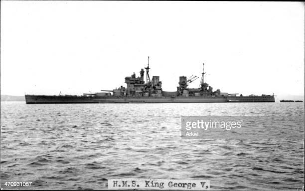 British Royal Navy Battleship HMS King George V A 6095 at sea date not given