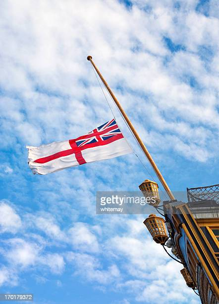British Royal Navy White Ensign on HMS Victory