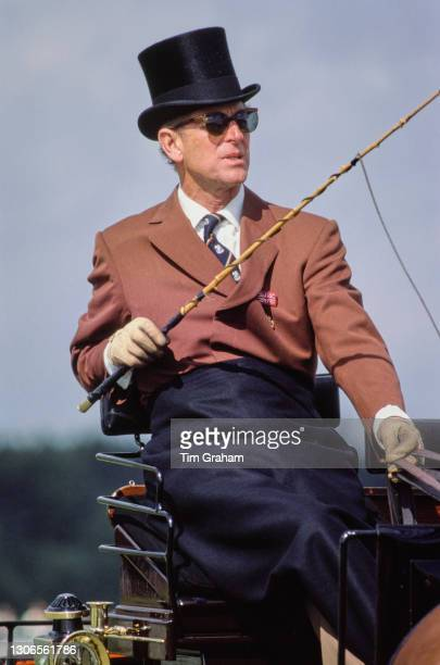 British Royal Prince Philip, Duke of Edinburgh competes in the World Carriage Driving Championships at Windsor Great Park in Windsor, Berkshire, 13th...