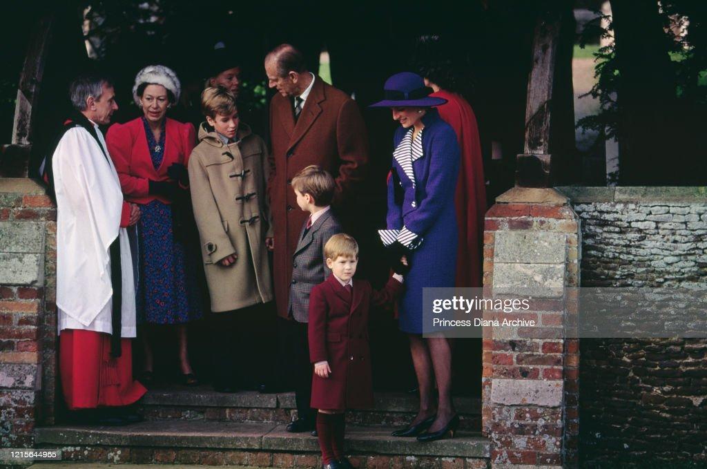 British Royals Christmas Day Church Service : News Photo