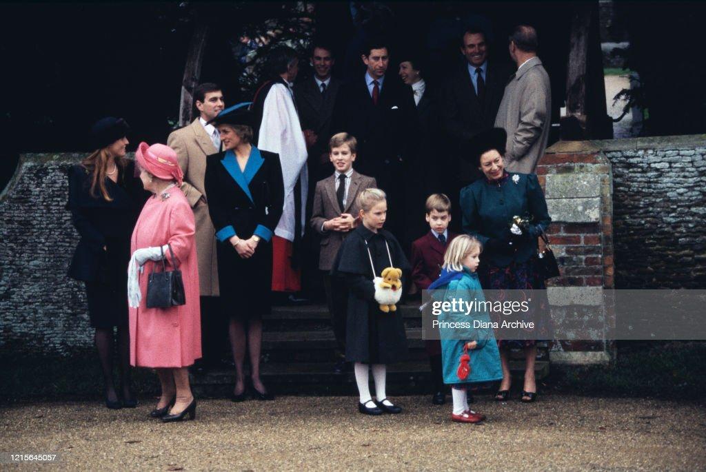 British Royals Christmas Day Church Service : ニュース写真