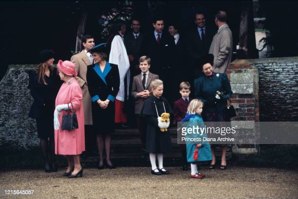British royals Sarah, Duchess of York, Queen Elizabeth The Queen Mother , Prince Andrew, Duke of York and Diana, Princess of Wales , Peter Phillips,...