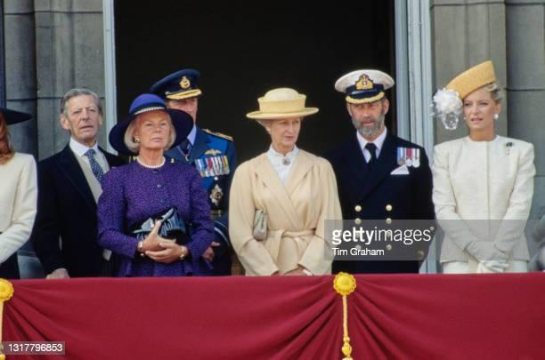 British royals Sir Angus Ogilvy , and Katharine, Duchess of Kent, Prince Edward, Duke of Kent , Princess Alexandra, The Honourable Lady Ogilvy,...