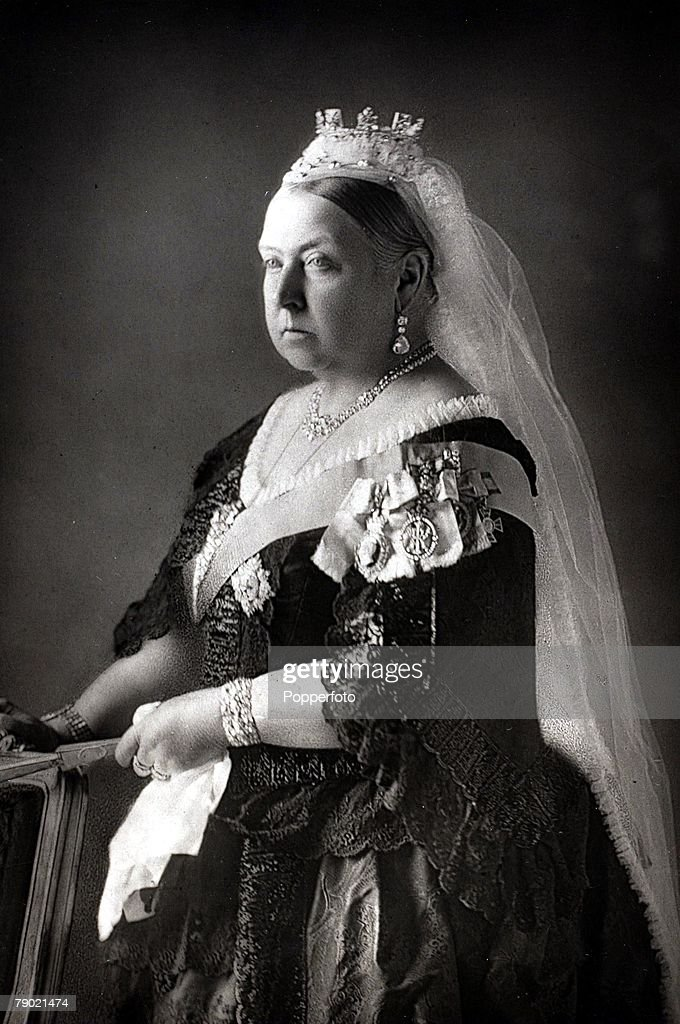 British Royalty. 19th Century. A portrait of H.M. Queen Victoria of Great Britain (1819-1901). Queen Victoria was one of the most famous British monarchs, reigning from (1837-1901) a reign which established Great Britain as one of the world's leaders. : News Photo