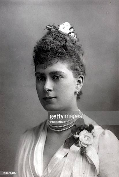 British Royalty, 19th Century, A portrait of H,R,H, Princess Victoria Mary of Teck , who married the Duke of York, in 1893 and reigned with him as...