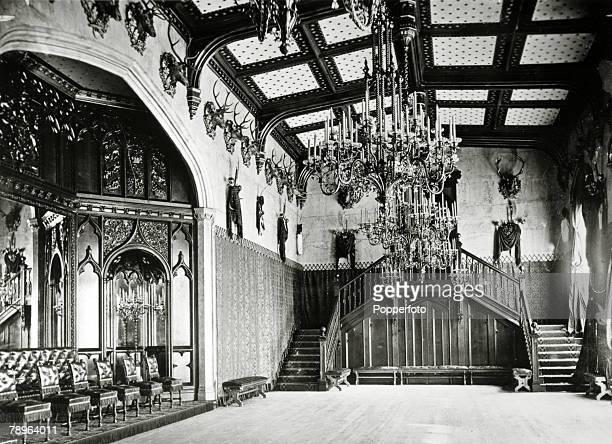 circa 1890 The Ballroom at Balmoral Castle during the time of Queen Victoria's reign