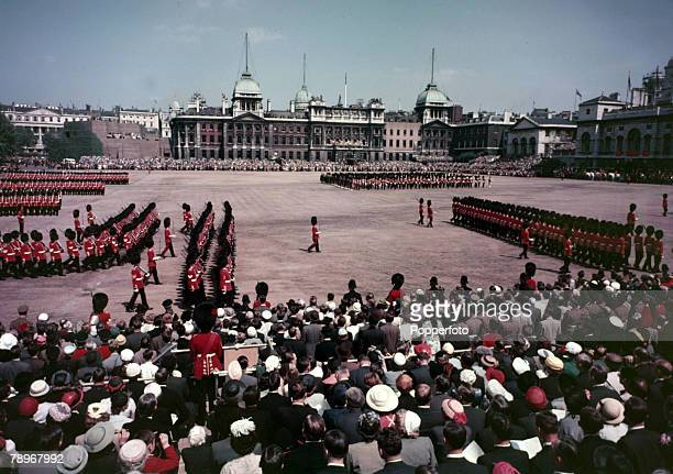 1956 Trooping the Colour on Horseguards Parade London