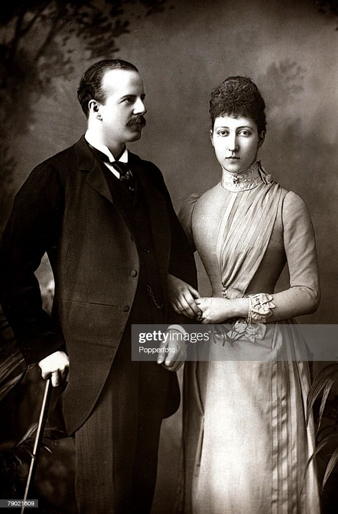 British Royalty. Circa 1892. A portrait of The Duke and Duchess of Fife, they were married July 27th 1889 in Buckingham Palace's Royal Chapel. : News Photo