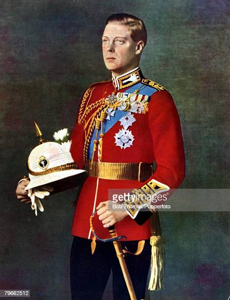 British Royalty circa 1930 Colour illustration Edward Prince of Wales who became King Edward VIII of Great Britain for a short time in 1936 only to...