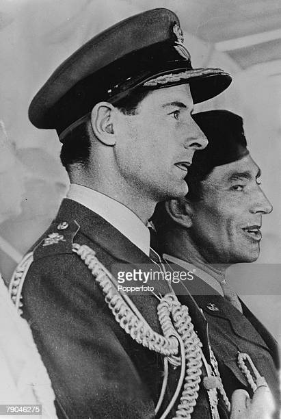 British Royalty, Controversy, pic: circa 1950's, Group Captain Peter Townsend, nearside, who fell in love with Princess Margaret, from 1953-1955, It...