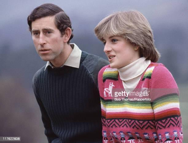 British Royalty, Craigowan Lodge, Balmoral, Scotland, 6th May 1981, Prince Charles and Lady Diana Spencer On July 1st Diana, Princess Of Wales would...